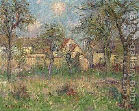 Le jardin by Gustave Loiseau - Reproduction Oil Painting