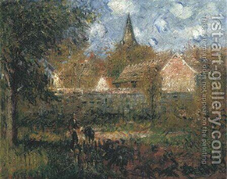 Le jardin du voisin by Gustave Loiseau - Reproduction Oil Painting