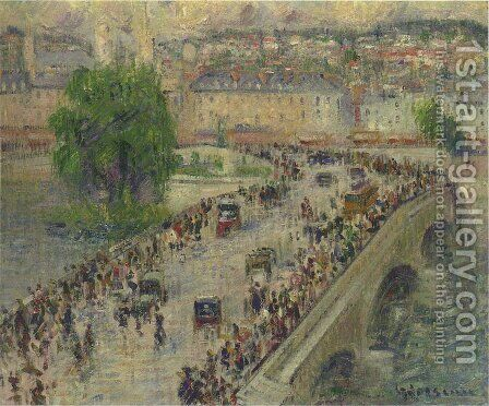 Le Port Corneille, Rouen by Gustave Loiseau - Reproduction Oil Painting