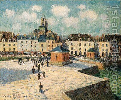 Le Quai de carnage by Gustave Loiseau - Reproduction Oil Painting