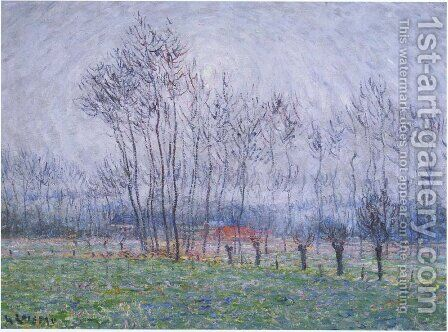 Les pres de Saint-Cyr by Gustave Loiseau - Reproduction Oil Painting