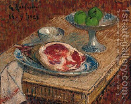 Nature morte au gigot by Gustave Loiseau - Reproduction Oil Painting