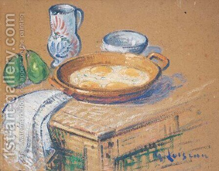 Nature morte aux oeufs by Gustave Loiseau - Reproduction Oil Painting