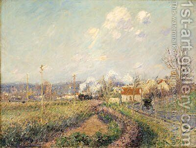 Paysage  Saint-Ouen-L'Aumne (Landscape at Saint-Ouen-L'Aumne) by Gustave Loiseau - Reproduction Oil Painting
