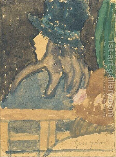 Girl in a Blue Hat by Gwen John - Reproduction Oil Painting