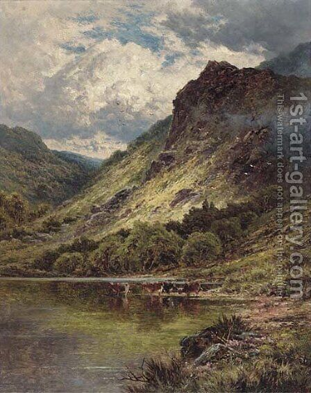 Loch Venachar, Perthshire by H.D. Hillier - Reproduction Oil Painting