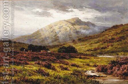 Ben Cruachan from Inverlochy, Argyllshire by H.D. Hillier - Reproduction Oil Painting
