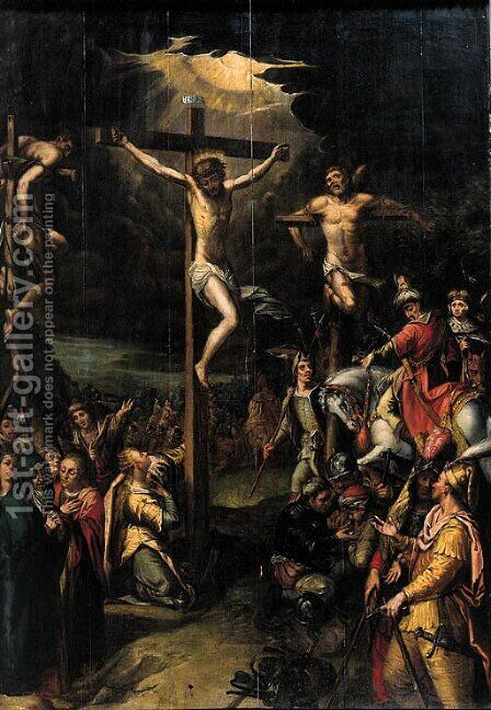 The Crucifixion by Hans Jordaens I - Reproduction Oil Painting