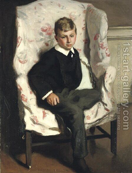 A Young Harrovian by Harrington Mann - Reproduction Oil Painting