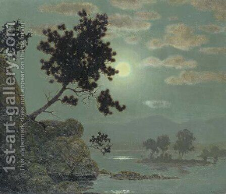 Silvery Moonlight by Harry Willson Watrous - Reproduction Oil Painting