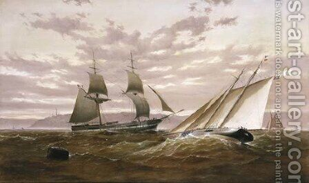 Top Sail Schooner and Sailing Yacht by H. Forrest - Reproduction Oil Painting