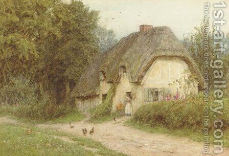 At West Hagbourne, Berks by Helen Mary Elizabeth Allingham, R.W.S. - Reproduction Oil Painting