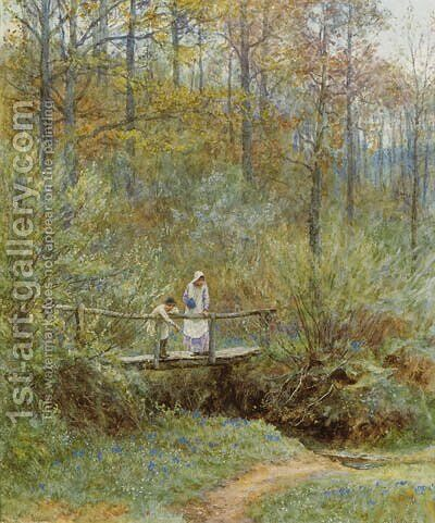 Tig Bridge by Helen Mary Elizabeth Allingham, R.W.S. - Reproduction Oil Painting