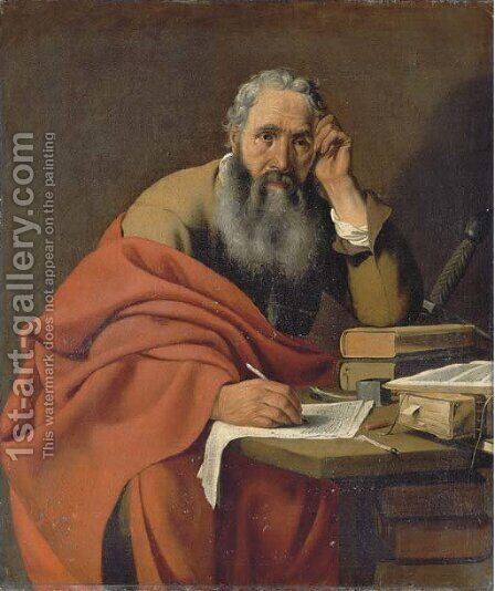 Saint Paul by Hendrick Bloemaert - Reproduction Oil Painting