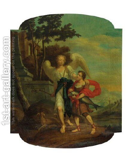 Tobias and the Angel by Hendrick Pola - Reproduction Oil Painting