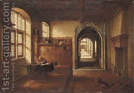 Saint Jerome in his study by Hendrick Van Steenwijck II - Reproduction Oil Painting