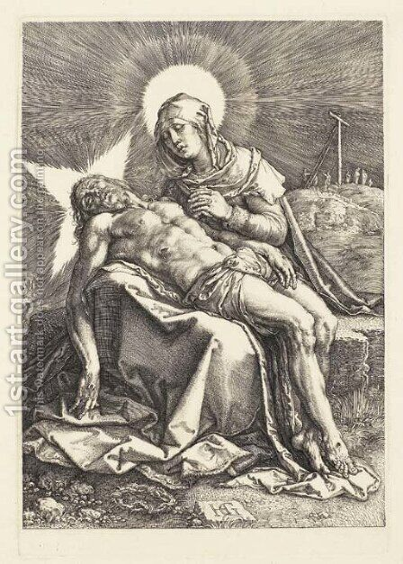 Pieta by Hendrick Goltzius - Reproduction Oil Painting
