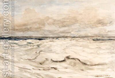 A sea-scape by Hendrik Willem Mesdag - Reproduction Oil Painting