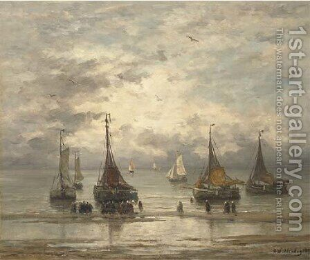 The return of the fleet 2 by Hendrik Willem Mesdag - Reproduction Oil Painting