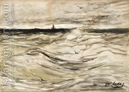 Hooge zee (High seas) by Hendrik Willem Mesdag - Reproduction Oil Painting