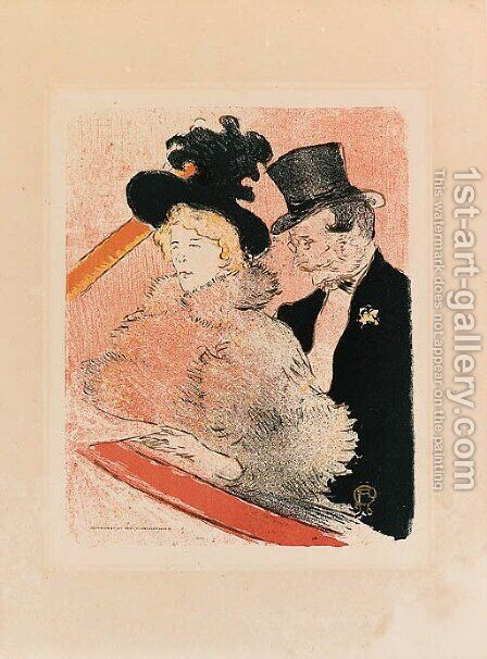 Au Concert by Toulouse-Lautrec - Reproduction Oil Painting