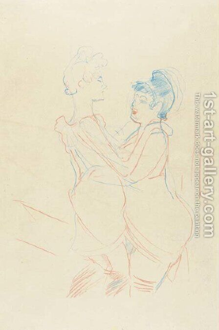 Femmes dansant by Toulouse-Lautrec - Reproduction Oil Painting