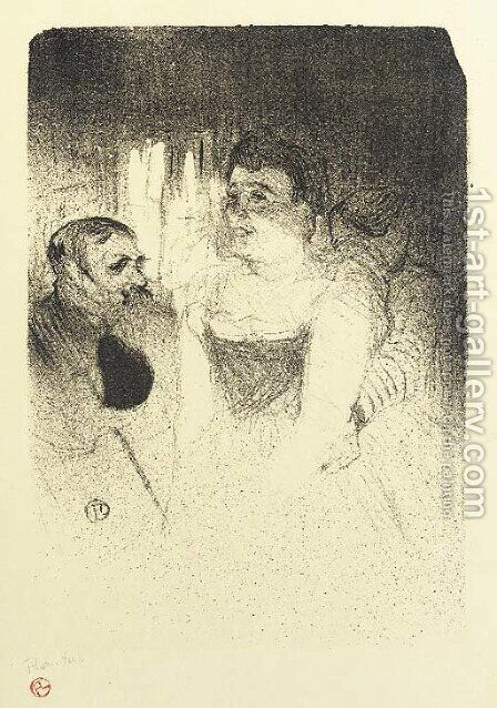 Judic by Toulouse-Lautrec - Reproduction Oil Painting