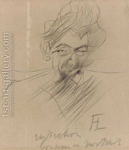 Portrait d'homme by Toulouse-Lautrec - Reproduction Oil Painting