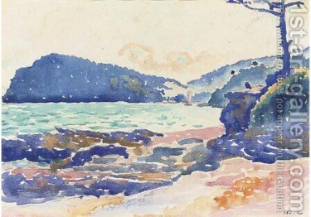 Cap Nere et Pramousquier by Henri Edmond Cross - Reproduction Oil Painting