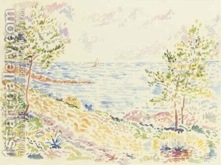 Environs de Saint Tropez by Henri Edmond Cross - Reproduction Oil Painting