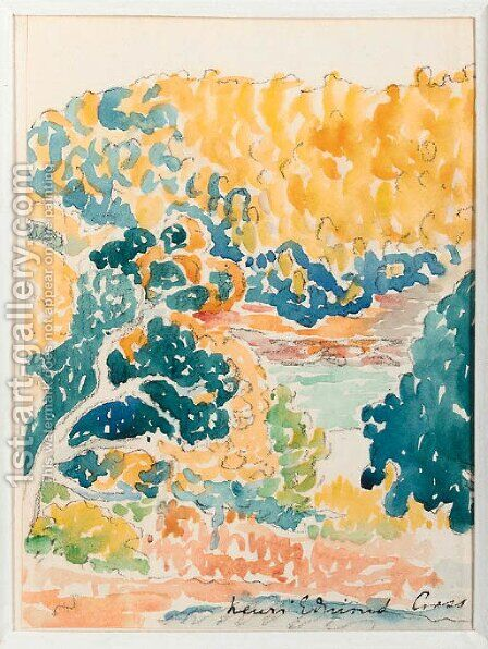 Paysage 3 by Henri Edmond Cross - Reproduction Oil Painting