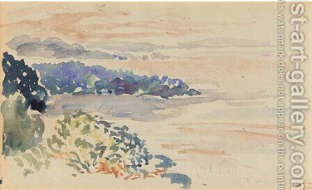 Rivage au crepuscule, Cavalaire by Henri Edmond Cross - Reproduction Oil Painting