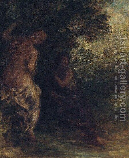 Deux Baigneuses 2 by Ignace Henri Jean Fantin-Latour - Reproduction Oil Painting