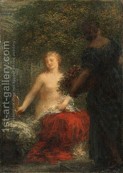 Femme  sa toilette by Ignace Henri Jean Fantin-Latour - Reproduction Oil Painting