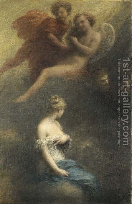 La damnation de Faust by Ignace Henri Jean Fantin-Latour - Reproduction Oil Painting