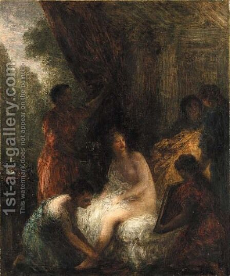La toilette 3 by Ignace Henri Jean Fantin-Latour - Reproduction Oil Painting