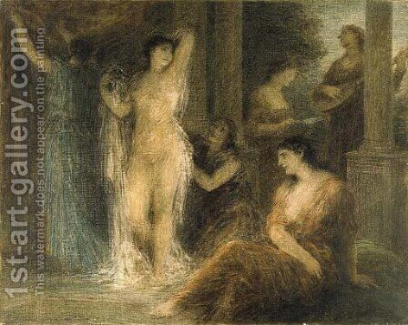 Le bain by Ignace Henri Jean Fantin-Latour - Reproduction Oil Painting