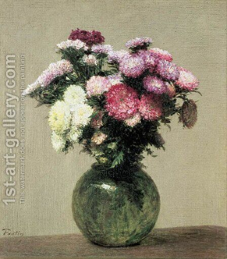 Marguerites by Ignace Henri Jean Fantin-Latour - Reproduction Oil Painting