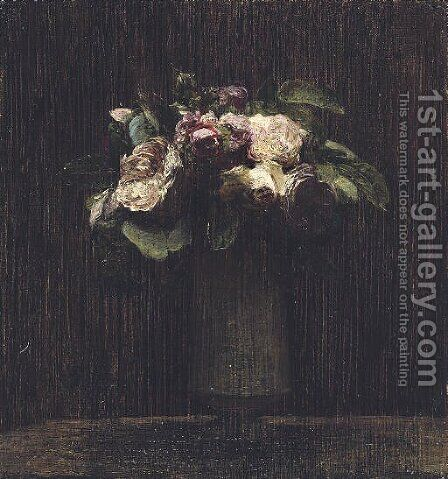 Roses 7 by Ignace Henri Jean Fantin-Latour - Reproduction Oil Painting