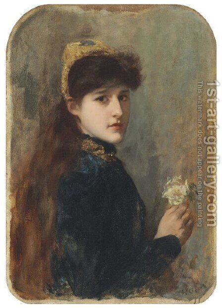 Portrait of a Young Girl by Henri Gervex - Reproduction Oil Painting