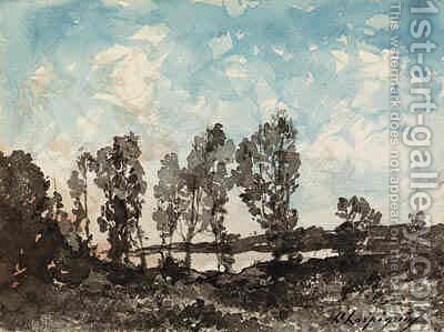 Landscape 2 by Henri-Joseph Harpignies - Reproduction Oil Painting