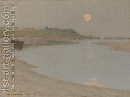 Clair de lune, Etaples by Henri Eugene Augustin Le Sidaner - Reproduction Oil Painting