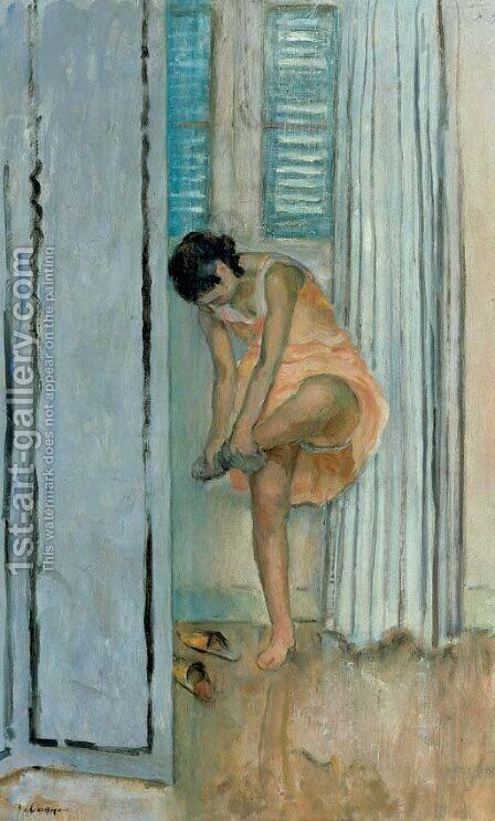 Femme a tant ses bas by Henri Lebasque - Reproduction Oil Painting