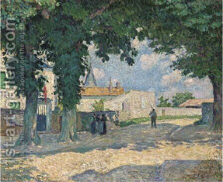 La place a Monterrain by Henri Lebasque - Reproduction Oil Painting