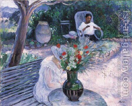 Le jardin au Pradet by Henri Lebasque - Reproduction Oil Painting
