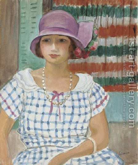 Nono au chapeau rose by Henri Lebasque - Reproduction Oil Painting
