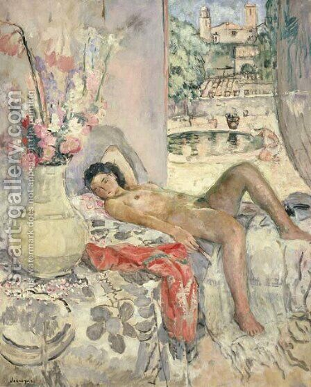 Nu allonge 3 by Henri Lebasque - Reproduction Oil Painting