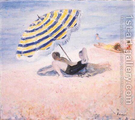 Scene de plage by Henri Lebasque - Reproduction Oil Painting