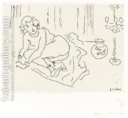 Nu couche a la Lampe venitienne by Henri Matisse - Reproduction Oil Painting