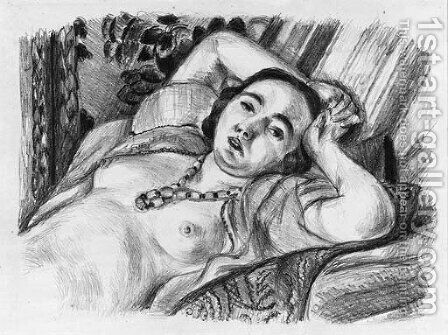 Odalisque au collier by Henri Matisse - Reproduction Oil Painting